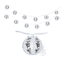 "Chinese Japanese Paper Lantern 4""  Party String Lights (SET of 12), Bamboo Lucky"