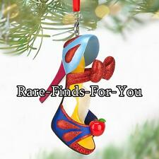"Disney Parks Princess ""Snow White"" Christmas Holiday Slipper Shoe Ornament (NEW)"