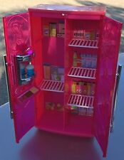 Pink Glam BARBIE Treats to TV REFRIGERATOR My House Basic Furniture Mattel 2010