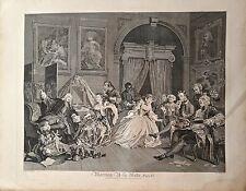 Eau-Forte, Marriage a la mode, T. Cook d'après W. Hogarth, v. 1797