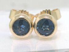 Saphir Ohrstecker 585 Gelbgold 14Kt Gold Ohrringe hellblaue Saphire