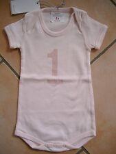 (X187) Imps & Elfs Baby Body Strampler ohne Beine + Druck & Logo Aufnäher gr.56