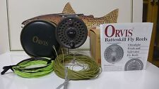 Orvis Battenkill 5/6 Fly Reel Disc Made in England w/ Case, Box, and 3 Lines