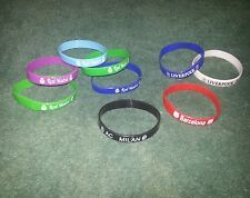 Lot of 9 Silicone Bracelets Wristbands Real Madrid Liverpool Barcelona AC Milan