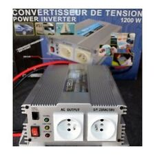 Convertisseur De Tension 24v/220v 1200w-2400w En Pointe