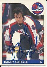 Signed Randy Carlyle Winnipeg Jets 85-86 O-PEE-CHEE  Hockey Card #57