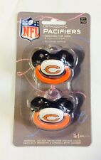 Chicago Bears Baby Infant Pacifiers NEW - 2 Pack   GREAT SHOWER GIFT!
