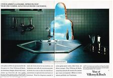 Publicité Advertising 1988 (2 pages) Les Elements de cuisine Villeroy & Boch