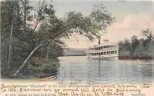 New York postcard Steamer Cleveland in the outlet of Chautauqua Lake ca 1905