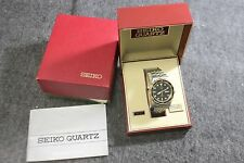 Vintage Seiko Quartz Sports 150 Stainless Steel Two Tone Divers Watch Full Set