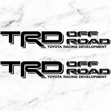 """TOYOTA TACOMA TRD OFF ROAD DECALS STICKERS (2) 18""""X3"""" DECALS BLACK"""