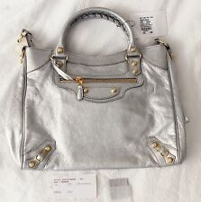 NEW BALENCIAGA GIANT 12 GOLD VELO Crossbody Bag, Gris Aluminum (Silver)