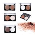 2 Farben Concealer Make-up Kompakt Bronzer Contour Foundation Highlight Palette