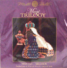 """Mill Hill Cross Stitch Kit de grano Navidad Reyes Magos Trilogía """"Melchior"""" 19-1303"""