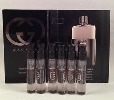 6 Gucci Guilty Pour Homme Men Spray Vial Travel Sample Cologne 2 ml/ 0.06 oz Lot