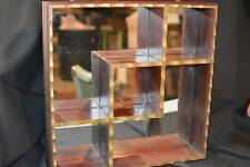 Antique Vintage Mid-Century Wood Mirror Wall SHADOW Display BOX Picture FRAME