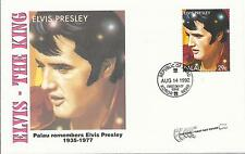 ELVIS PRESLEY - FIRST DAY COVER 024 PALAU REMEMBERS ELVIS STAMPED IN PALAU