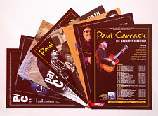 Paul Carrack - set of 8 UK A5 tour flyers from 2002-2013...ideal for framing!