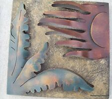 Cactus with Windy Sun Metal Wall Sculpture Indoor, Garden, Wellness Spa Cafe Art