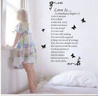 Love is.. Wall Quote Removable Vinyl Decal Stickers Art Decor Christian Bible