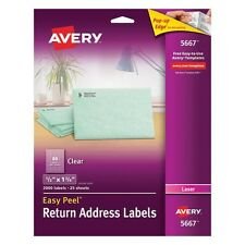 Avery Clear Return Address Labels For Laser Printers - 5667