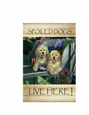 """13""""x18.5"""" Spoiled Dogs Live Here New Designs decorative Sublimation Garden Flag"""