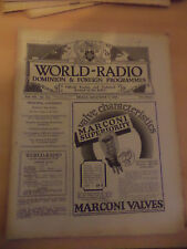 OLD VINTAGE WORLD RADIO TIMES 1920s MAGAZINE 7 dec 1928 BBC foreign programme