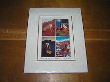 Artist M. Jackson Signed Chapel of the Holy Cross Sedona Photographic Art Matted