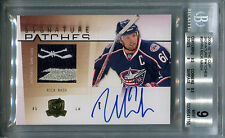 2009-10 The Cup Signature Patches RICK NASH Auto Team Logo Patch SP /75 BGS 9/10