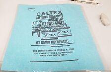 1960s ? CALTEX  Oil Co. BATTERIES WETTEX Cloth   RARE