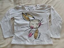 Young Dimension Girls White Spots Long Sleeve Size T-Shirt 4-5 Years