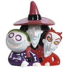 Disney Nightmare Before Christmas Lock Shock Barrel Ceramic Cookie Jar NIB 25215