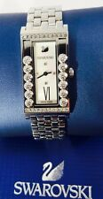 Swarovski Watch Silver Square Lovely Crystals ref 5096682 New with Papers