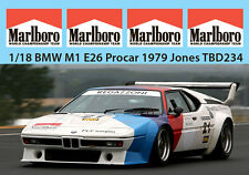 1/18 BMW M1 E26 PROCAR 1979 JONES MISSING SPONSOR  DECALS TB DECAL TBD234