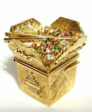 ESTEE LAUDER GLIMMERING TAKE-OUT SOLID PERFUME COMPACT 2009 CHINESE FOOD NIB