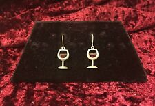 SILPADA 925 Sterling Silver Red Wine Earrings Faceted Glass French Hooks  W0678