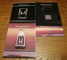 Original 1980 Honda Civic Accord Prelude Sales Brochure Lot of 4 80