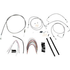 """Burly 14"""" Stainless Ape Hanger Cable Wiring Kit 2008-13 Harley FLHR FLTR w/ ABS"""