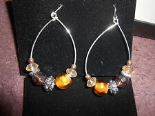 Avon Beaded Chic Hoop Earrings - Nature ***NEW***