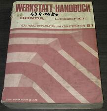 Werkstatthandbuch Honda Legend KA7 / KA8 Wartung Reparatur Konstruktion 03/1991
