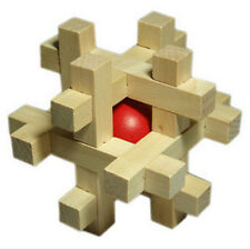 Magic Kids Adult Toy Snake Cube Wooden BrainTake Out the Red Ball Worth it JXUK