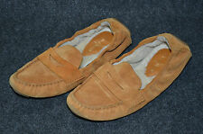 COLE HAAN Sadie Deconstructed 9.5 B Camello Suede Shearling Lined Moccasins