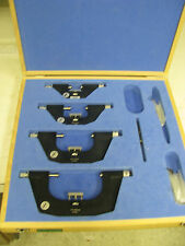 "Fowler Bowers External Micrometer set in case 0-100mm 9-4"" - FE39"