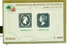 STAMP ON STAMP ITALY 1985 block