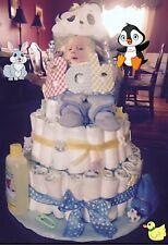 Handmade Baby Boy Gift Basket Diaper Cake ~ Made To Order ��������