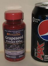 Standardized Grapeseed Extract, 100 mg (50% polyphenols), 100 capsules