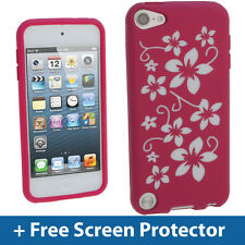 Rosa Fiore Custodia Pelle per Apple iPod Touch 6A quinta generazione iTouch Gel Cover