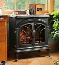 Electric Fireplace Stove Portable Heater Energy Saving Wood Real Flame Effect