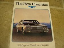 1979 Chevy Caprice Classic Impala Sales Brochure 79
