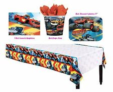 Blaze & Monster Machines Table Ware Party Pack ~ Plates Cups Tablecover Napkins